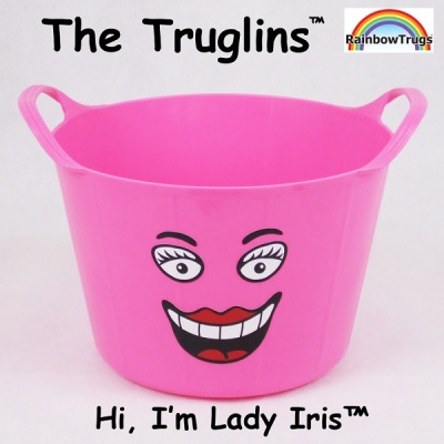 Truglin™ Lady Iris (Small) Die-cut Sticker Set