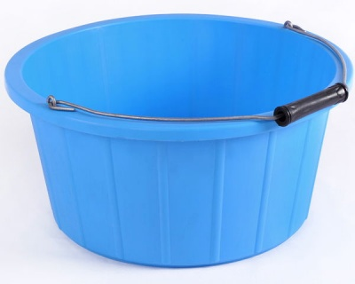 Coloured Shallow Feed Bucket - LIGHT BLUE
