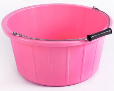 Coloured Shallow Feed Bucket - CANDY PINK