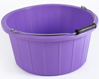 Coloured Shallow Feed Bucket - PURPLE