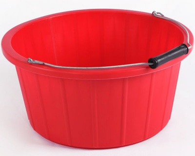 Coloured Shallow Feed Bucket - RED
