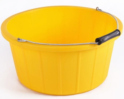 Coloured Shallow Feed Bucket - YELLOW