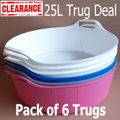 25 Litre Rainbow Trug® - Pack of 6 - MIXED SECONDS