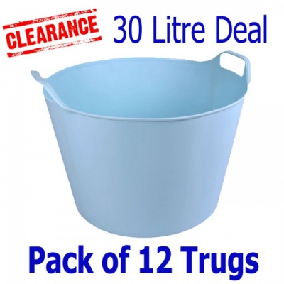 30 Litre Rainbow Trug® - Pack of 12 - LIGHT DUCK EGG BLUE