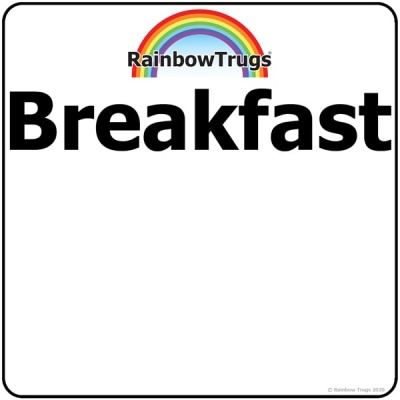 Trug-Lid BREAKFAST Sticker