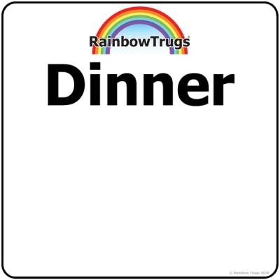 Trug-Lid DINNER Sticker